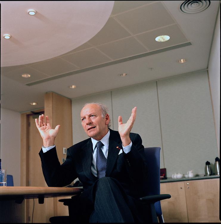 J.P. Garnier, CEO of Glaxo Smith Kline in his London office..