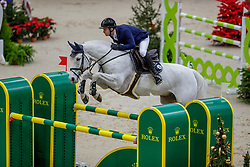 BALSIGER Bryan (SUI), Clouzot de Lassus<br /> Genf - CHI Geneve Rolex Grand Slam 2019<br /> Prix des Communes Genevoises<br /> 2-Phasen-Springen<br /> International Jumping Competition 1m50<br /> Two Phases: A + A, Both Phases Against the Clock<br /> 13. Dezember 2019<br /> © www.sportfotos-lafrentz.de/Stefan Lafrentz