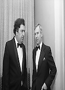 """People Of The Year Awards.1984..26.11.1984..11.26.1984..26th November 1984..The Tanaiste and Minister For Energy,Mr Dick Spring, presented a silver medallion and a scroll to eight men and one woman who were deemed to be """"People of the Year""""..The nine were selected by a panel of media editors.The awards were sponsored by New Ireland Assurance,Plc and presented at The Burlington Hotel,Dublin.The winners were:..Mr John Bermingham for his work in rehabilitating the physically and mentally handicapped..Ms Maeve Calthorpe for inspired work with the blind and visually impaired..Mr John Hume for his contribution to peace,democracy and the new Ireland Forum..Mr Patrick O'Connell, for fortitude in the face of grave illness and for fund raising..Drs Prem Puri and Barry O'Donnell,for their contribution to Medical Science..Mr Michael O'Hehir, for his contribution to broadcasting..Mr Fergal Quinn, for dynamic management in the public and private sectors..The special adjudicators award was given to Mr John Parker for his work in revitalising Harland and Wolff shipyard...Image of Mr John Hume chatting with Mr John Parker after the presentation of the awards.."""