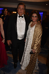 Hasnat Khan and his wife Sabahat at the Chain of Hope Gala Ball held at the Grosvenor House Hotel, Park Lane, London England. 17 November 2017.<br /> Photo by Dominic O'Neill/SilverHub 0203 174 1069 sales@silverhubmedia.com