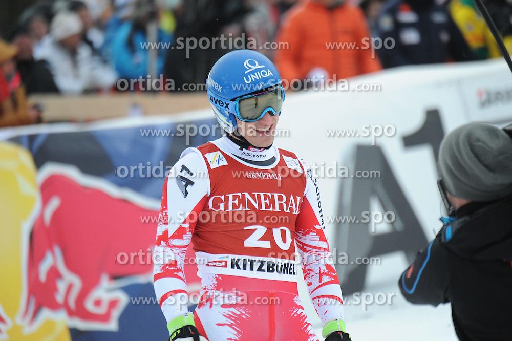 23.01.2015, Streif, Kitzbuehel, AUT, FIS Ski Weltcup, Supercombi Super G, Herren, im Bild Matthias Mayer (AUT) // Matthias Mayer of Austria reacts after his run of the men's Super Combined Super-G of Kitzbuehel FIS Ski Alpine World Cup at the Streif Course in Kitzbuehel, Austria on 2015/01/23. EXPA Pictures © 2015, PhotoCredit: EXPA/ Erich Spiess