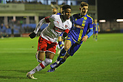 Chiedozie Ogbene in action during the The FA Cup match between Solihull Moors and Rotherham United at the Automated Technology Group Stadium, Solihull, United Kingdom on 2 December 2019.