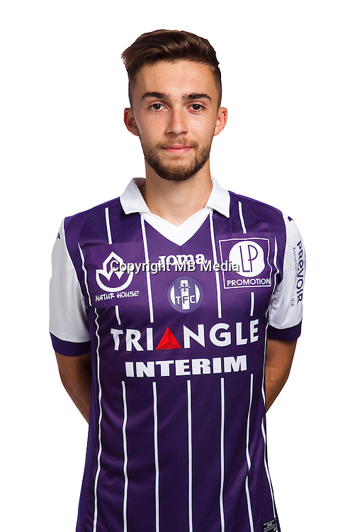Ludovic Jarzabek of Toulouse during the photo shooting session of Toulouse FC for the new season 2016/2017 in Toulouse on September 16th 2016<br /> Photo : TFC / Icon Sport