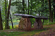 One of the stone megaliths at Columcille in Bangor, PA.  The megalith park was started by William H. Cohea, Jr. in 1978 and draws inspiration from ancient traditions on the Isle of Iona.