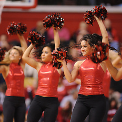 Jan 31, 2009; Piscataway, NJ, USA; The Rutgers University Dance Team performs during the first half of South Florida's 59-56 victory over Rutgers in NCAA women's college basketball at the Louis Brown Athletic Center