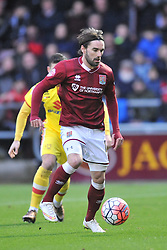 Ricky Holmes Northampton Town,  MK Dons, Cobblers, Northampton Town v MK Dons, FA Cup 3rd Round,  Sixfields Stadium, Saturday 9th January 2016