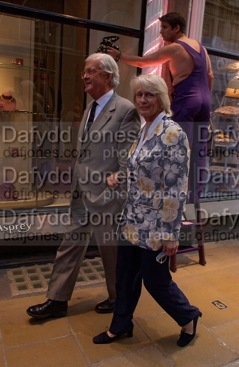 Lord and Lady Baker, Asprey Store relaunch party after rebuilding. New Bond St. 18 May 2004. ONE TIME USE ONLY - DO NOT ARCHIVE  © Copyright Photograph by Dafydd Jones 66 Stockwell Park Rd. London SW9 0DA Tel 020 7733 0108 www.dafjones.com