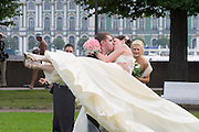 Wedding party...A river cruise from Moscow to St. Petersburg aboard MS Kazan, the most luxurious vessel (four star plus) operating in Russia. It is run by Austrian River Cruises under strictly Western standards, chartered - amongst others - by Club 50, a senior's travel agency based in Vienna.