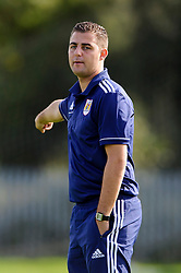 Bristol City U18 Manager Carlos Anton in action - Photo mandatory by-line: Rogan Thomson/JMP - Tel: 07966 386802 - 05/10/2013 - SPORT - FOOTBALL - SGS Wise Campus, Bristol - Bristol City U18 v Brighton & Hove Albion U18 - U18 Professional Development League 2.