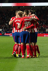December 16, 2017 - Madrid, Madrid, Spain - Atletico de Madrid celebrates the goal of victory..Atletico de Madrid won by 1 to 0 whit goal of Fernando Torres. Atletico becomes second of La Liga. (Credit Image: © Jorge Gonzalez/Pacific Press via ZUMA Wire)