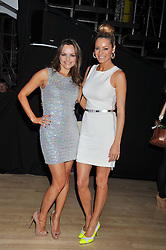 Left to right, MARIA HATZISTEFANIS and TESS DALY at the 2012 Rodial Beautiful Awards held at The Sanderson Hotel, Berners Street, London on 6th March 2012.