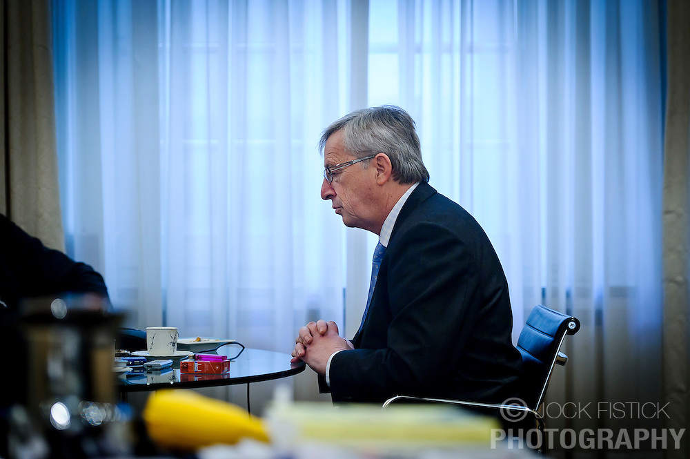 Jean-Claude Juncker, Luxembourg's prime minister, and president of the Eurogroup, pauses during an interview with the German news magazine, Der Spiegel, in Luxembourg, on Wednesday, Feb. 1, 2012. (Photo © Jock Fistick)