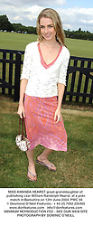 MISS AMANDA HEARST great-granddaughter of publishing czar William Randolph Hearst, at a polo match in Berkshire on 12th June 2004.PWC 90
