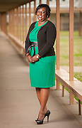 Middle School Principal of the Year Nicole Moore at Key Middle Middle School, May 9, 2013.