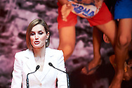 Queen Letizia of Spain attends the Commemoration of the World Day of Red Cross and Red Crescent at Miguel Delibes Auditorium on May 8, 2015 in Valladolid, Spain