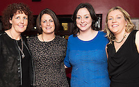 07/12/2014 Linda Flaherty, Ciara Huban, Deidre Huban,  and Aileen O'Grady  at The Pier Head, Kinvara for Oiche Nollaig na mban (night out for the chicks!) started out as a fun Christmas night for the ladies. Organised by Mary Moloney, Ruth sexton, Valerie Forkan, Sarah Linnane & Jackie Veale, the women quickly decided to make it a fundraiser. Being a women's night the obvious charity of choice was breast cancer awareness, the NBCRI was the chosen beneficiary.  120 participated in the chain link, all sporting a variety of pink bras! Some Christmas carols at the village tree while hanging the bras on the tree was another highlight! PHOTO:Andrew Downes
