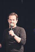 Host Richard Speight Jr introduces Misha Collins, Saturday, Salute to Supernatural Chicago 2013
