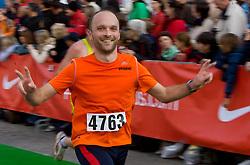 Peter Hudoklin at the finish line of the 14th Marathon of Ljubljana, on October 25, 2009, in Ljubljana, Slovenia.  (Photo by Vid Ponikvar / Sportida)