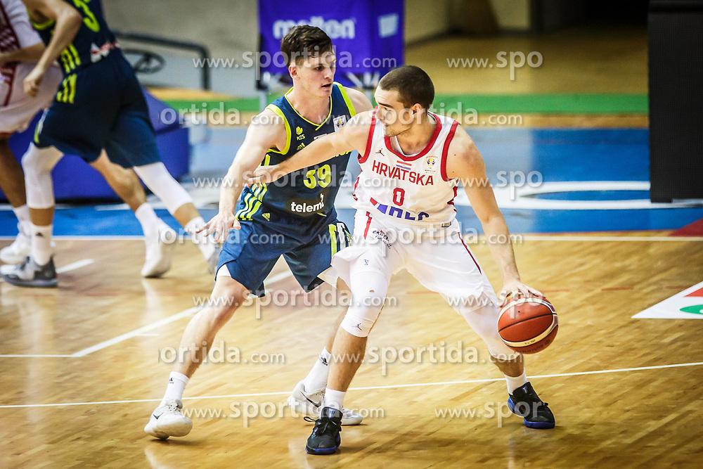 Aljaz Bratec of Slovenia during friendly basketball match between Slovenia and Croatia , on September 8, 2018 in Arena Zlatorog, Celje, Slovenia. Photo by Ziga Zupan / Sportida