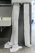 towel dispenser in a public bathroom