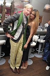 HENRY CONWAY and ZARA MARTIN at a pool party to celebrate the UK launch of the Omega Ladymatic Collection held at the Haymarket Hotel, Haymarket, London on 16th June 2011.