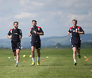Dundee&rsquo;s Rory Loy, Kostadin Gadzhalov and Calvin Colquhoun  -  Dundee FC pre-season training at Dundee University Grounds, Riverside<br /> <br />  - &copy; David Young - www.davidyoungphoto.co.uk - email: davidyoungphoto@gmail.com