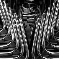 Stacked Chairs, Badger School, Kinsman, Ohio