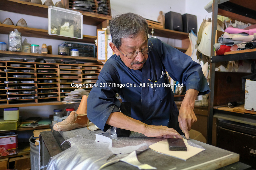 Luis Herrera, shoes maker of Duran Custom Dance Shoes. (Photo by Ringo Chiu)<br /> <br /> Usage Notes: This content is intended for editorial use only. For other uses, additional clearances may be required.