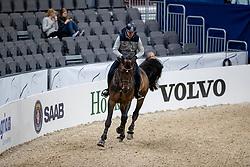 WOJCIANIEC Wojciech (POL), Naccord Melloni<br /> Göteborg - Gothenburg Horse Show 2019 <br /> Longines FEI Jumping World Cup™ Final<br /> Training Session<br /> Warm Up Springen / Showjumping<br /> Longines FEI Jumping World Cup™ Final and FEI Dressage World Cup™ Final<br /> 03. April 2019<br /> © www.sportfotos-lafrentz.de/Stefan Lafrentz