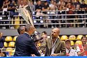 DESCRIZIONE : Supercoppa 2015 Finale EA7 Emporio Armani Milano - Grissin Bon Reggio Emilia<br /> GIOCATORE : Stefano Dalla Salda<br /> CATEGORIA : esultanza postgame premiazione<br /> SQUADRA : Grissin Bon Reggio Emilia<br /> EVENTO : Supercoppa 2015<br /> GARA : EA7 Emporio Armani Milano - Grissin Bon Reggio Emilia<br /> DATA : 27/09/2015<br /> SPORT : Pallacanestro <br /> AUTORE : Agenzia Ciamillo-Castoria/Max.Ceretti