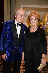 NICHOLAS & ANNIE PARSONS at the 90th birthday party for Nicholas Parsons held at the Hyatt Churchill Hotel, Portman Square, London on 8th October 2013.