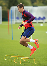 4 October 2017 -  2018 FIFA World Cup Qualifying (Group F) - England Training - Harry Winks jumps over training bars - Photo: Marc Atkins/Offside