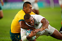 Rugby Union - 2019 Rugby World Cup - Quarter-Final: England vs. Australia<br /> <br /> Kurtley Beale of Australia can't stop Kyle Sinckler of England scoring his try at Oita Stadium, Oita Prefecture.<br /> <br /> COLORSPORT/LYNNE CAMERON
