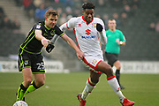 MK Dons Chuks Aneke(10) on the attack during the EFL Sky Bet League 1 match between Milton Keynes Dons and Bristol Rovers at stadium:mk, Milton Keynes, England on 3 March 2018. Picture by Nigel Cole.