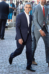 © Licensed to London News Pictures. 22/06/2018. London, UK. London Mayor SADIQ KHAN attends a service of Thanksgiving at Westminster Abbey to mark the 70th Anniversary of the Landing of the Windrush. The MV Windrush ship docked at Tilbury in the Port of London on 22nd June 1948 and  was carrying 492 passengers from the port of Kingston in Jamaica. Photo credit: Ray Tang/LNP