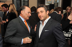A party to promote the exclusive Puntacana Resort & Club - the Caribbean's Premier Golf & Beach Resort Destination, was held at The Groucho Club, 45 Dean Street London on 12th May 2010.<br /> <br /> Picture shows:- Left to right, FRANK RAINIERI and LUCA DEL BONO