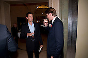 JAMES ROTHSCHILD; BEN ELLIOT, Book launch of Lady Annabel Goldsmith's third book, No Invitation Required. Claridges's. London. 11 November 2009