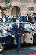 04.10.2016. Copenhagen, Denmark.  <br /> Crown Prince Frederik's arrival to Christiansborg Palace for attended the opening session of the Danish Parliament (Folketinget).<br /> Photo: &copy; Ricardo Ramirez