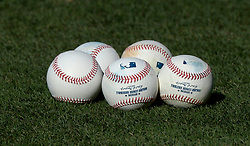 June 27, 2017 - Los Angeles, California, U.S. - Baseballs prior to a Major League baseball game between the Los Angeles Angels and the Los Angeles Dodgers at Dodger Stadium on Tuesday, June 27, 2017 in Los Angeles. (Photo by Keith Birmingham, Pasadena Star-News/SCNG) (Credit Image: © San Gabriel Valley Tribune via ZUMA Wire)