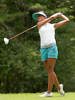 Veronica Felibert during LPGA Futures Tour Saturday, July 23rd.  (Karen Bobotas/for the Concord Monitor)
