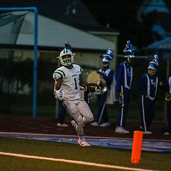During a high school football game between East Jefferson and Isidore Newman, in Metairie, La on September 13, 2018. Jarmone Sutherland
