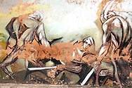 Mural in La Maya, Cuba.