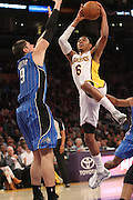 Sunday March 23, 2041; Kent Bazemore #6 of the Lakers during the game. The Los Angeles Lakers defeated the Orlando Magic by the final score of 103-94 at Staples Center in downtow Los Angeles CA.
