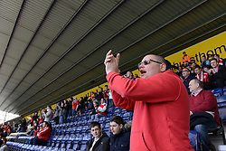Bristol City fan at Deepdale Stadium - Photo mandatory by-line: Dougie Allward/JMP - Mobile: 07966 386802 - 11/04/2015 - SPORT - Football - Preston - Deepdale - Preston North End v Bristol City - Sky Bet League One