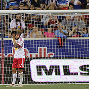 Tim Cahill, New York Red Bulls, injured during the New York Red Bulls Vs San Jose Earthquakes, Major League Soccer regular season match at Red Bull Arena, Harrison, New Jersey. USA. 19th July 2014. Photo Tim Clayton