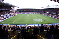 Liverpool and Everton fans observe a minute's silence at Goodison Park in respect for those who lost their lives in terrorist attacks in the USA.