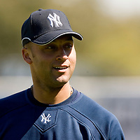 New York Yankees Derek Jeter during Major League Baseball's spring training at Legends Field on Monday, February 20, 2007 in Tampa, Florida. Photo/Scott Audette