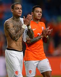 16-11-2014 NED: EK Kwalificatie Nederland - Letland, Amsterdam<br /> Nederland wint in de Arena met 6-0 van Letland / Gregory van der Wiel