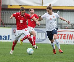 10.04.2016, Vorwärts Stadion, Steyr, AUT, UEFA Frauen EM Qualifikation, Oesterreich vs Norwegen, Gruppe 8, im Bild v.l. Nicole Billa (AUT) und Nora Holstad Berge (NOR) // f.l.t.r. Nicole Billa of Austria and Nora Holstad Berge (NOR) during womens UEFA Euro qualifier, group 8 match between Austria and Norway at the Vorwärts Stadion in Steyr, Austria on 2016/04/10. EXPA Pictures © 2016, PhotoCredit: EXPA/ Reinhard Eisenbauer