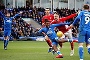 Peterborough Utd forward Ivan Toney (17) with a chance during the EFL Sky Bet League 1 match between Peterborough United and Charlton Athletic at London Road, Peterborough, England on 26 January 2019.